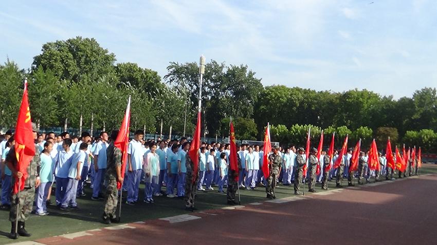 新生开学军训--团结的力量